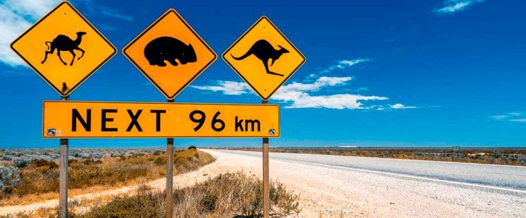 senales de trafico en australia