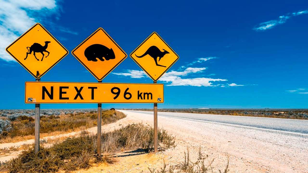 Las señales de tráfico en Australia