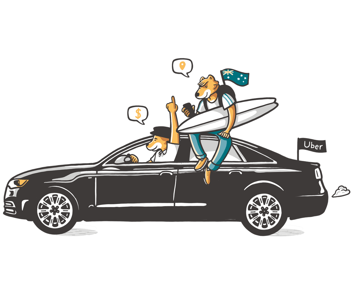 Trabajar de Uber en Australia