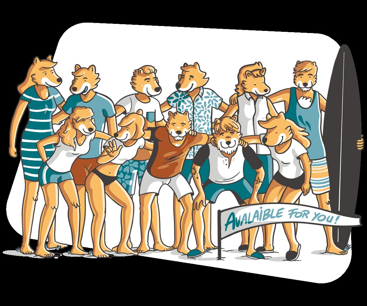 Equipo Dingoos ilustracion