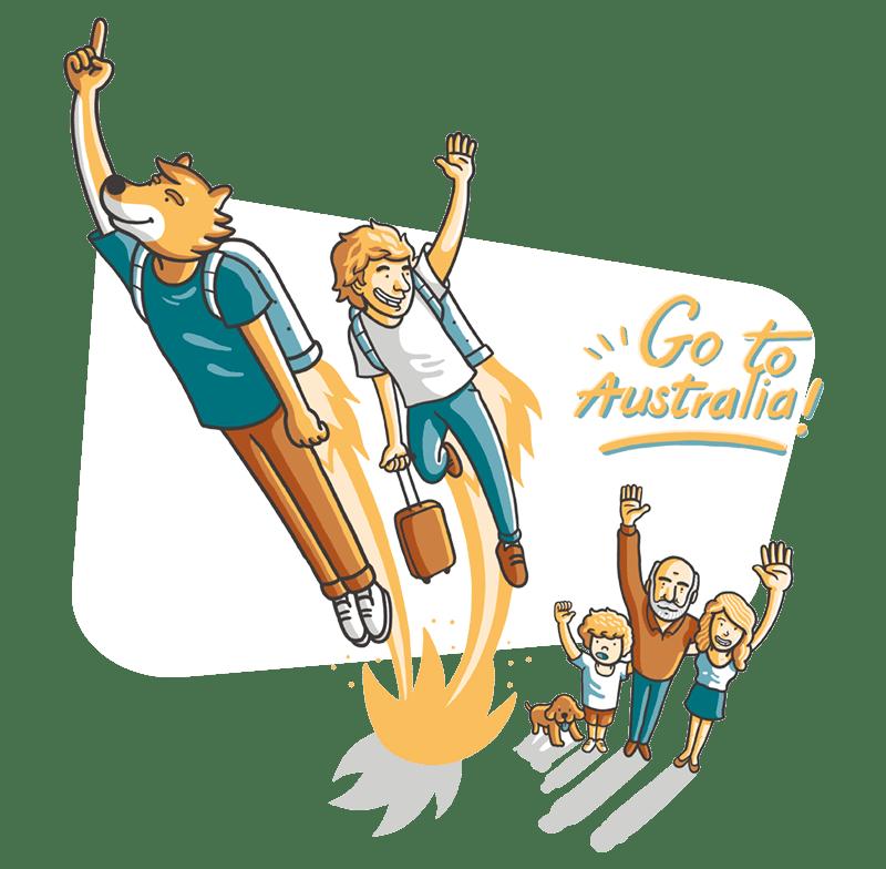 Estudiante camino a Australia con Dingoo