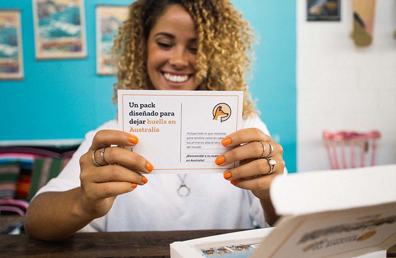 tarjeta del welcome pack dingoos