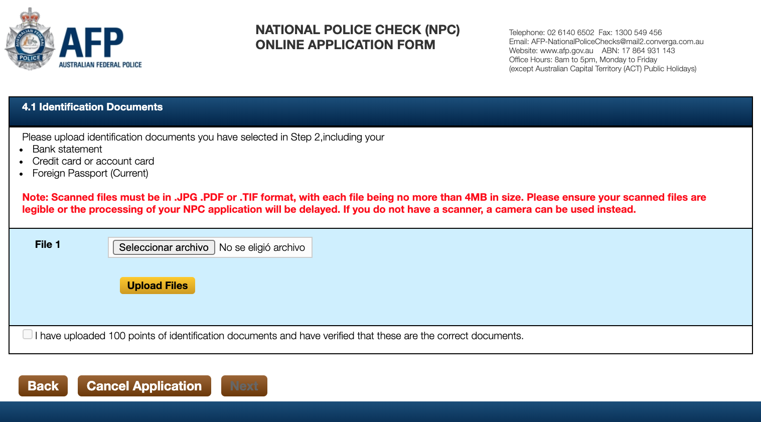 police check en australia