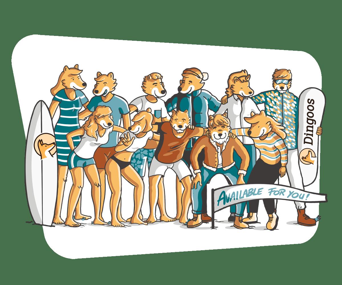Nuestro equipo Dingoos está siempre disponible para ti