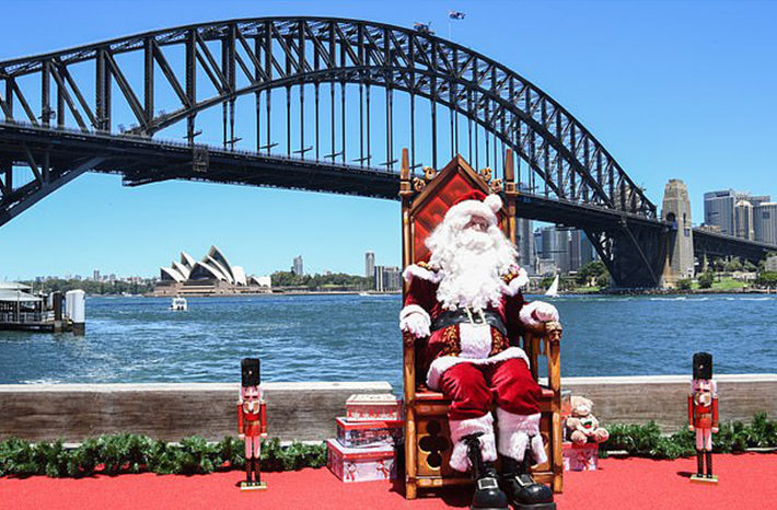la navidad en australia