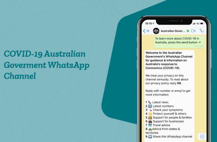 Whatsapp oficial gobierno australiano